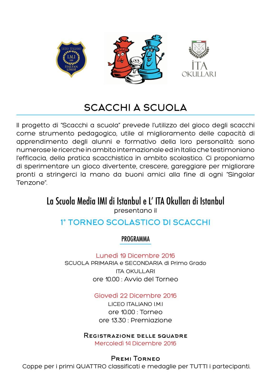 Calendario Tornei Scacchi.Scacchi A Scuola Liceo Italiano Imi